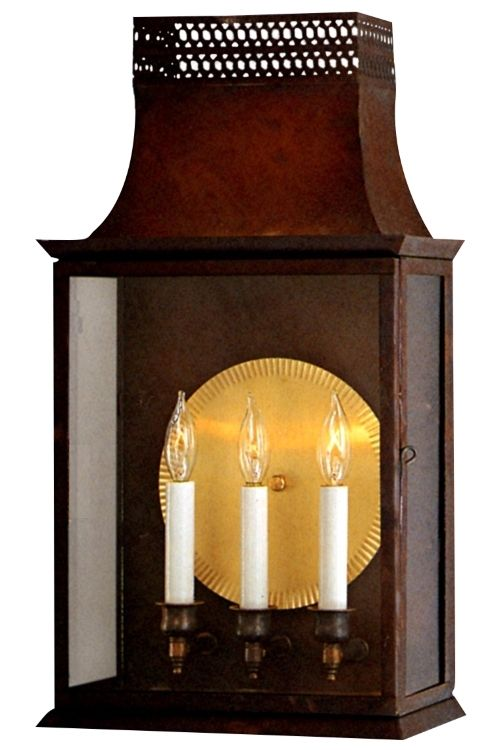 Patrice Colonial Copper Lantern Wall Sconce Wall Lantern Copper Lantern Traditional Wall Sconces