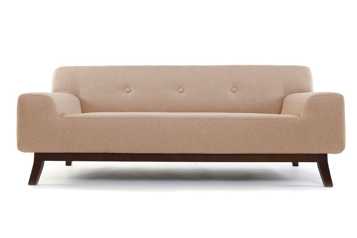 Miliboo - Divano design 3 posti beige VILA | low cost design ...