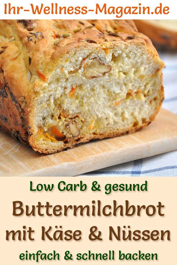 Pane al latticello a basso contenuto di carboidrati con formaggio e noci – ricetta salutare per cuocere il pane