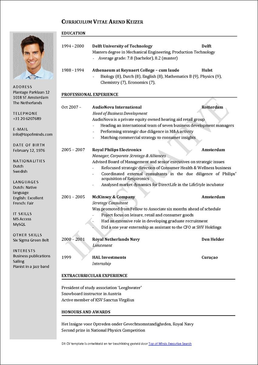 How To Write A Cv Sample Resume Templates Sample Resume