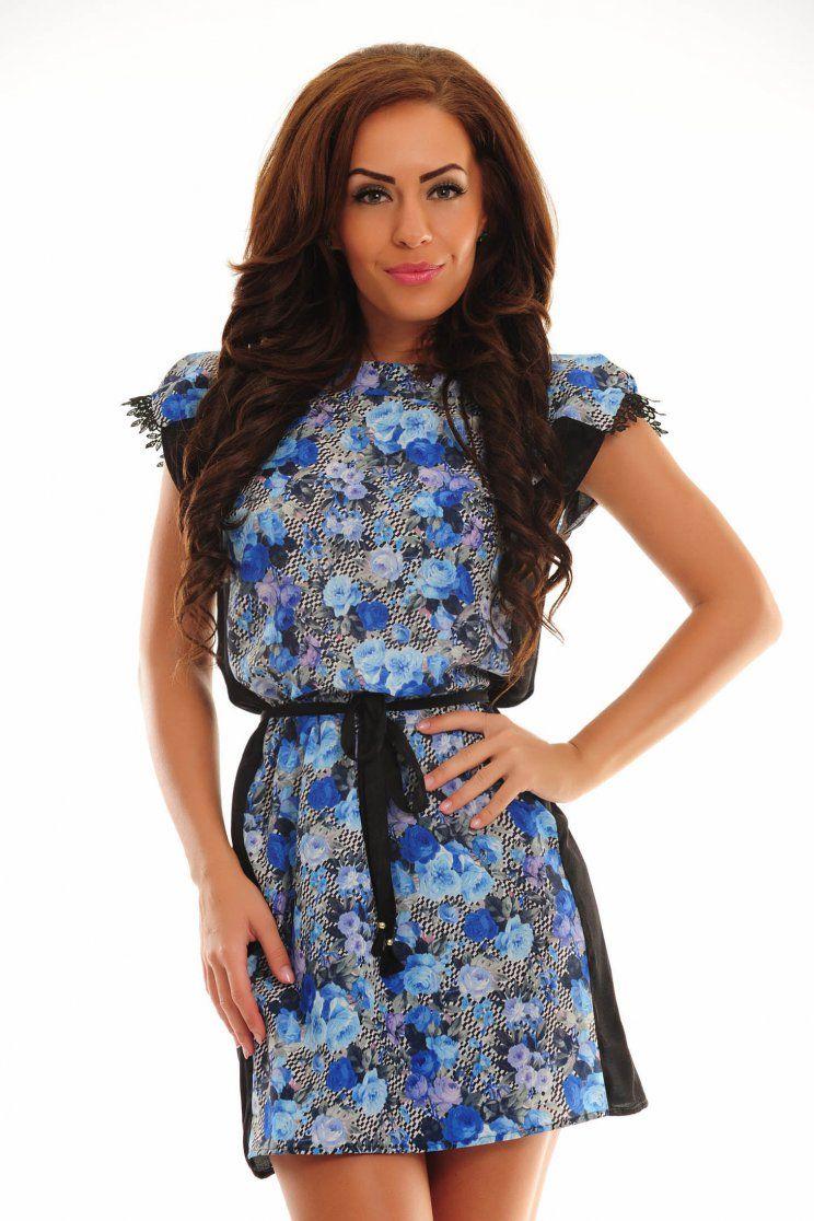 c3d86ee81b Kék StarShinerS Stunning Ruha Virágmintás díszítés Summer Holiday Outfits,  Bold Colors, Blue Dresses,