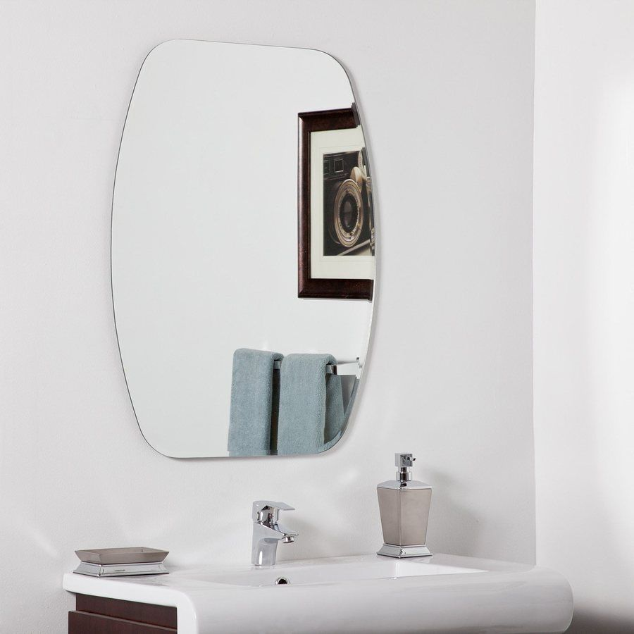 Pics Of Decor Wonderland Sydney In W X In H Frameless Bathroom Mirror With Hardware And Beveled Edges Ssm
