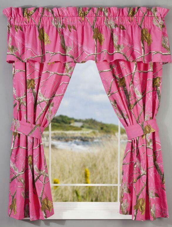 Superior Pink Camo Curtains