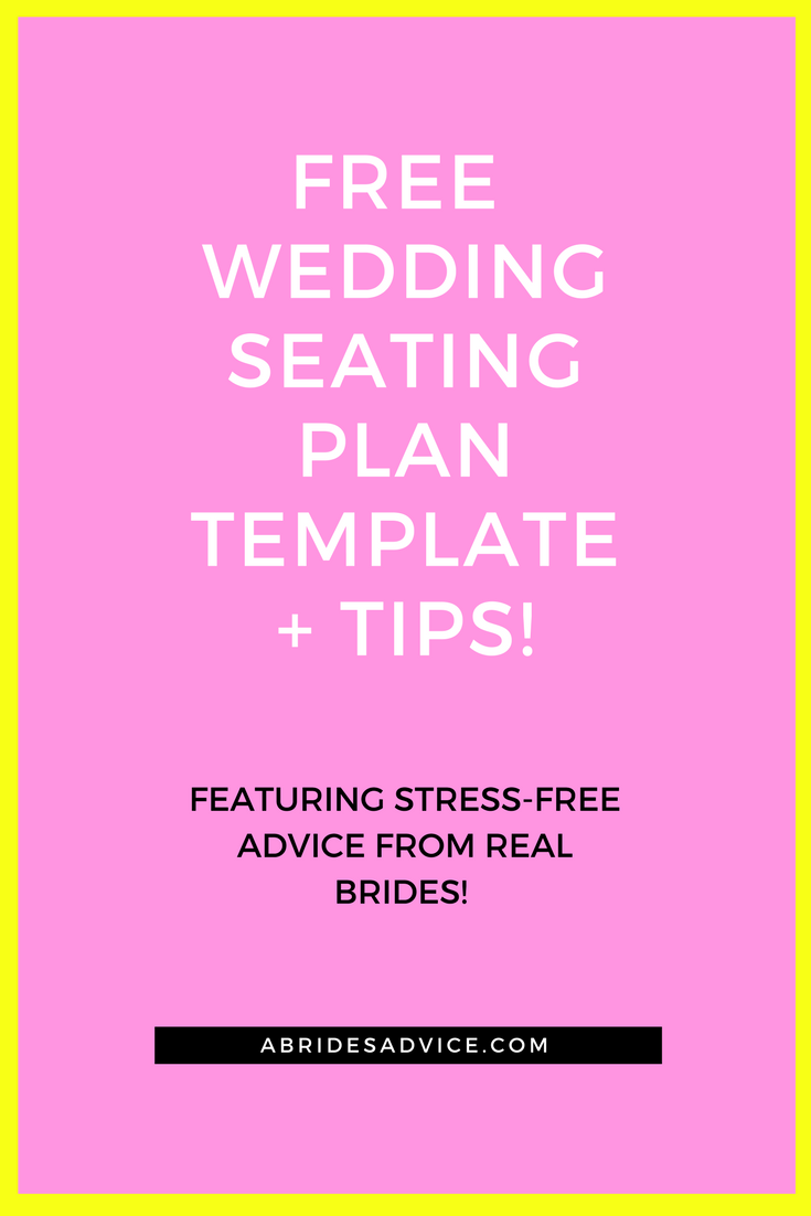 Free Wedding Seating Plan Template  Tips For A Successful Layout