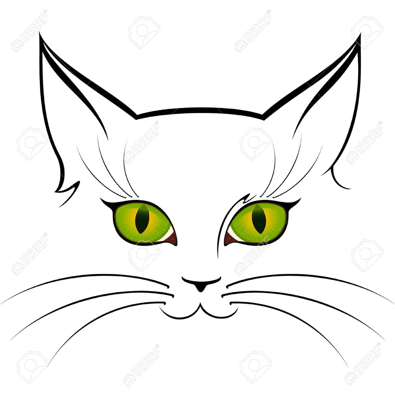 Uncategorized Drawing A Cat Face cat face drawing free vector for download about 23 silhouette tutorials etc pinterest cat