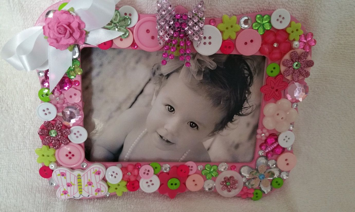 Pink picture frame rhinestone frame birthday gift pink picture frame rhinestone frame birthday gift preciousmemories53 button frame vintage photo frame mother daughter gift jeuxipadfo Choice Image