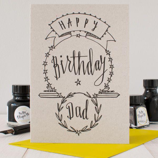 Happy Birthday Dad Birthday Card Dad Cards Birthday Card Drawing Happy Birthday Cards
