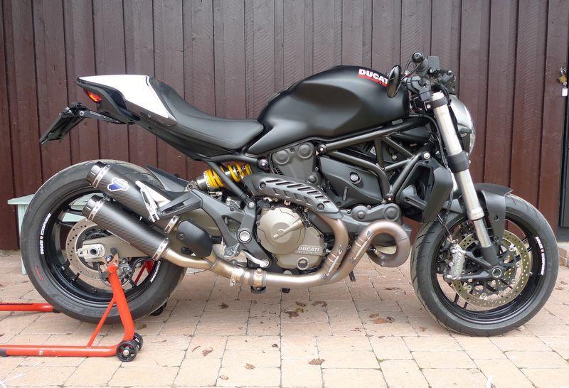 Ducati Monster 821 With Termignoni Exhaust