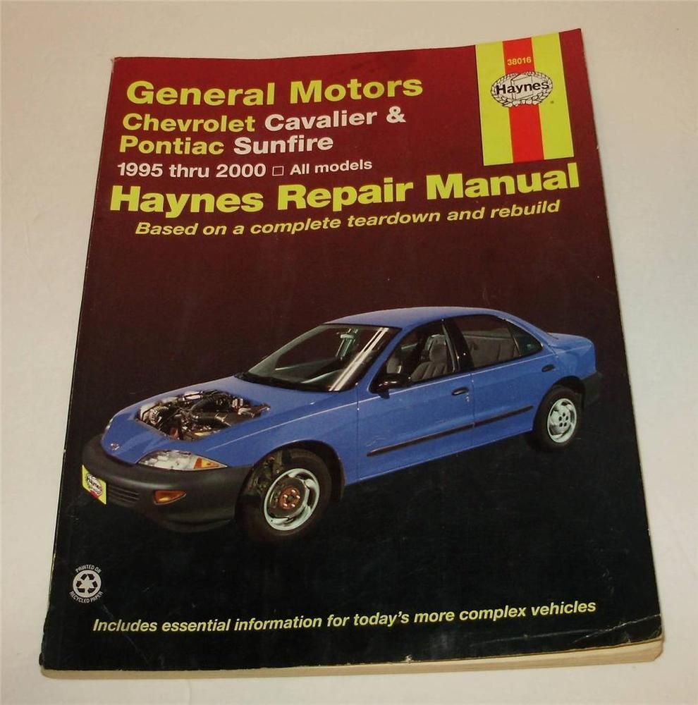 Haynes 38016 Manual General Motors Chevrolet Cavalier    Pontiac       Sunfire    19952000      Automotive