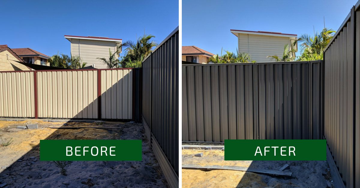 Colorbond Fence Painting Colour Monument Water Features In