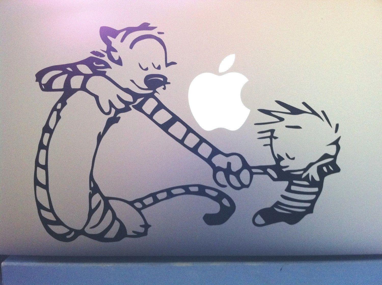 Calvin hobbs dancing macbook pro 15 vinyl sticker 8