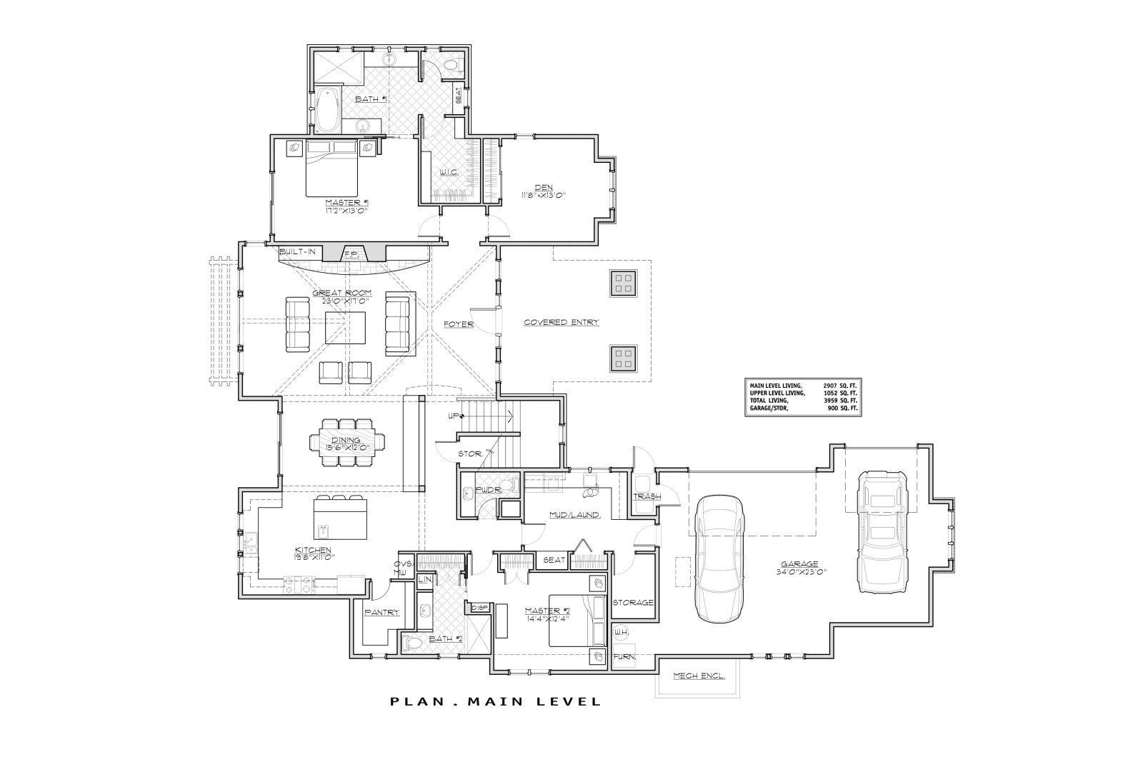 1st Floor Plan Image Of Aspen Lodge Craftsman Style House Plans Craftsman Floor Plans Floor Plan Design