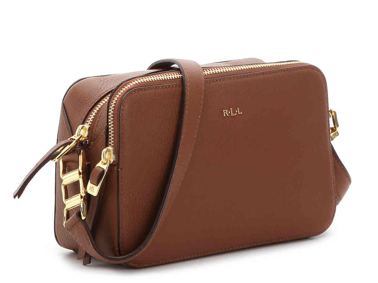 62ee22ee9a Lauren Ralph Lauren Rawson Celeste Leather Crossbody Bag Women s Handbags    Accessories