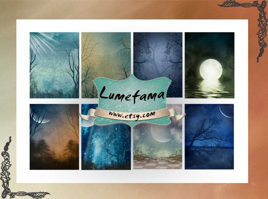 Forest  Scrapbooking paper Printable Download Digital por Lumefama