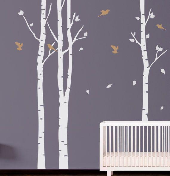Albero con uccelli Wall Decal. Autoadesivo della di decoryourwall, $52.00