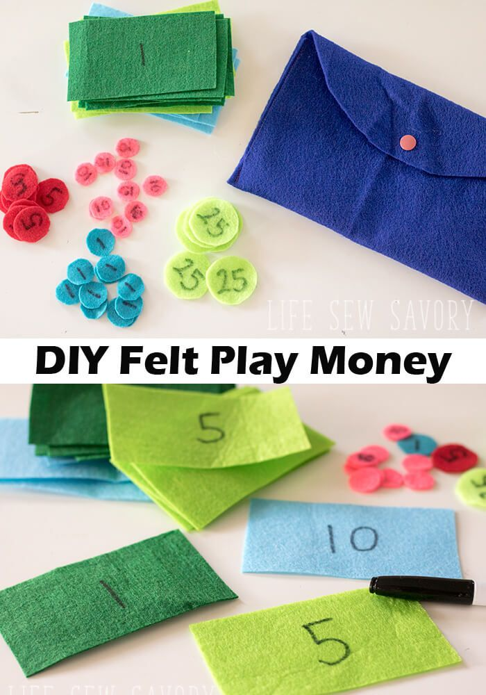 Felt PLay MOney fun craft for kids from Life Sew Savory | Lifestlye ...