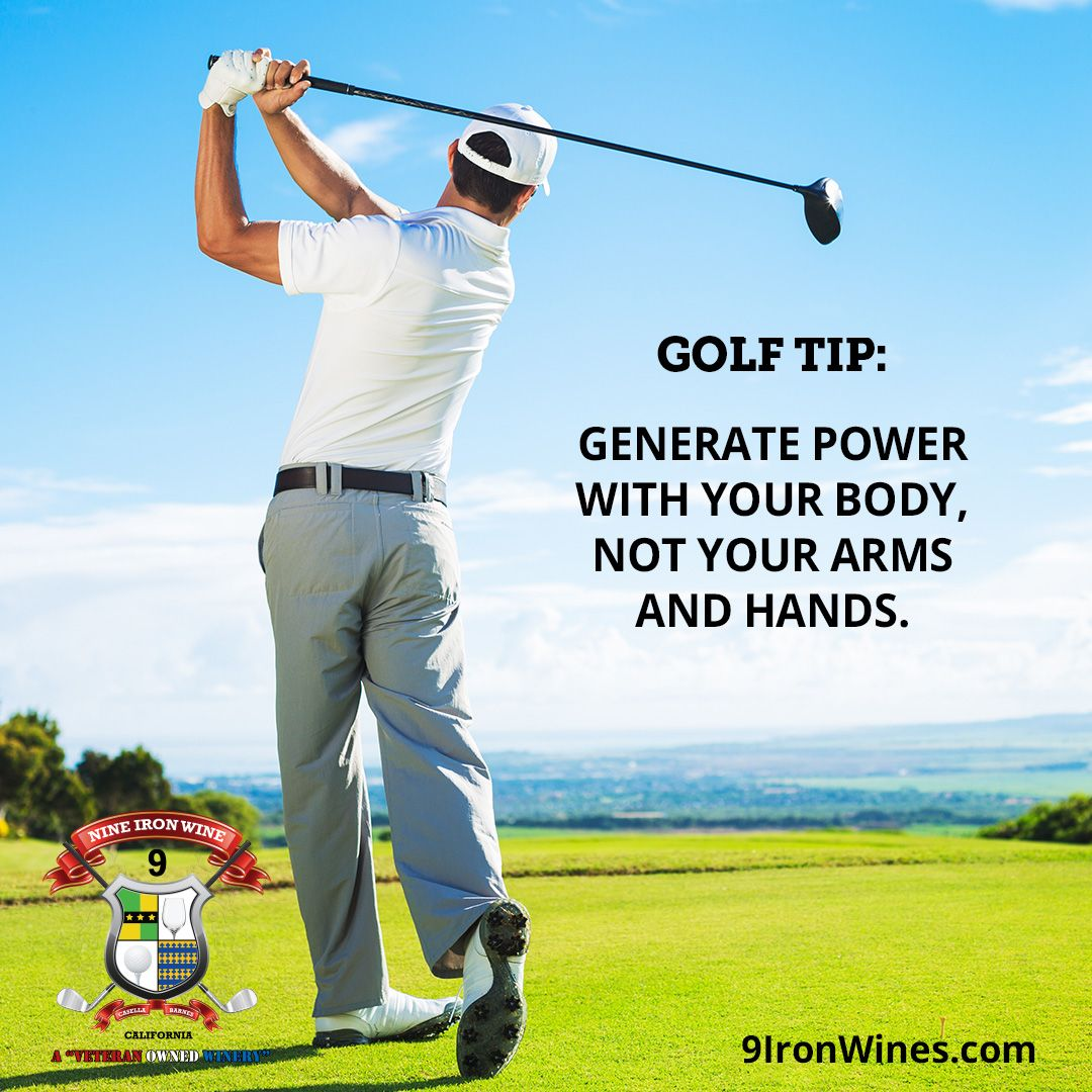 Golf tip practice hitting the ball off of the tee without