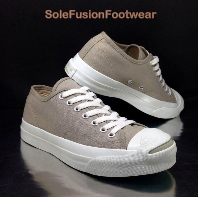 Converse mens Jack Purcell Trainers Grey sz 7 Vintage