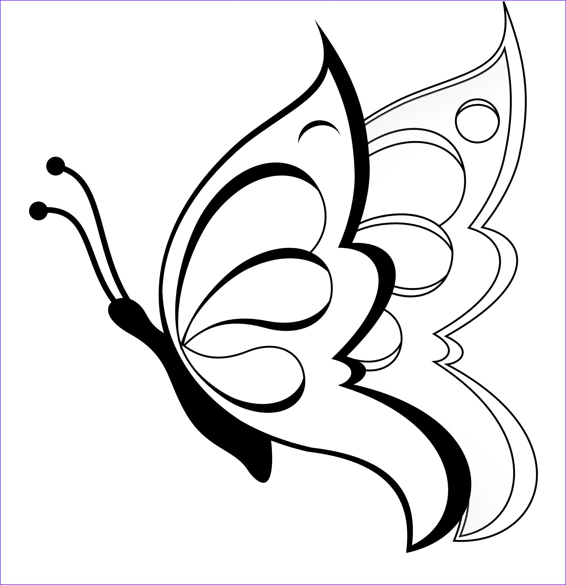 10 Best Of Butterfly Coloring Book Photos Butterfly Drawing Easy Butterfly Drawing Butterfly Sketch [ 2045 x 1979 Pixel ]