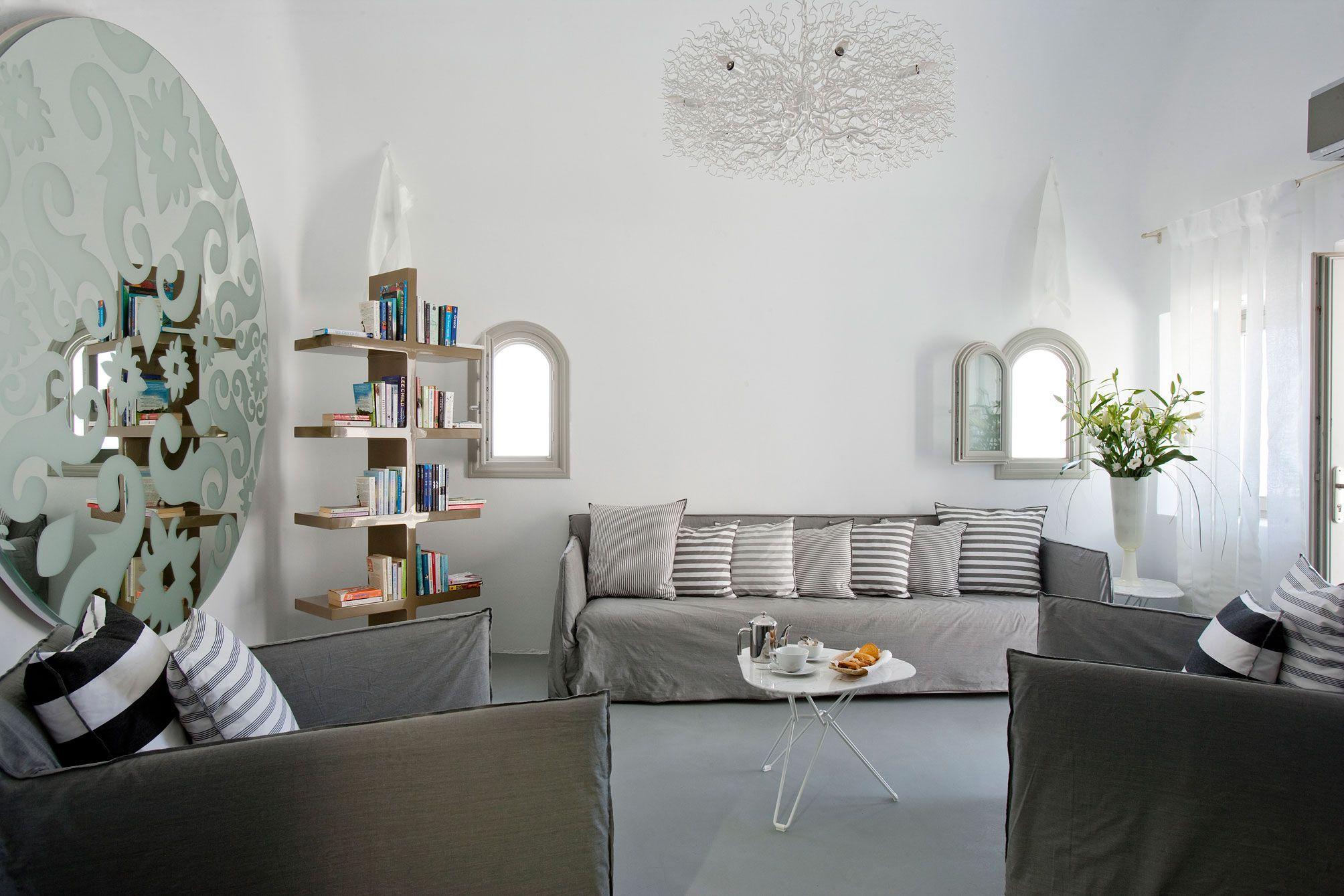 Design: Enchanting Bedroom Of Grace Santorini Hotel Near Red Colored ...
