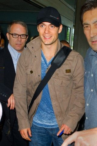 Henry Cavill, the new Superman, arrives at JFK airport in New York City. June 9, 2013