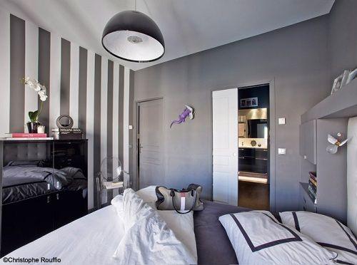 Pareti A Righe Grigie : Parete a strisce grigie parete soggiorno righe design fai da te