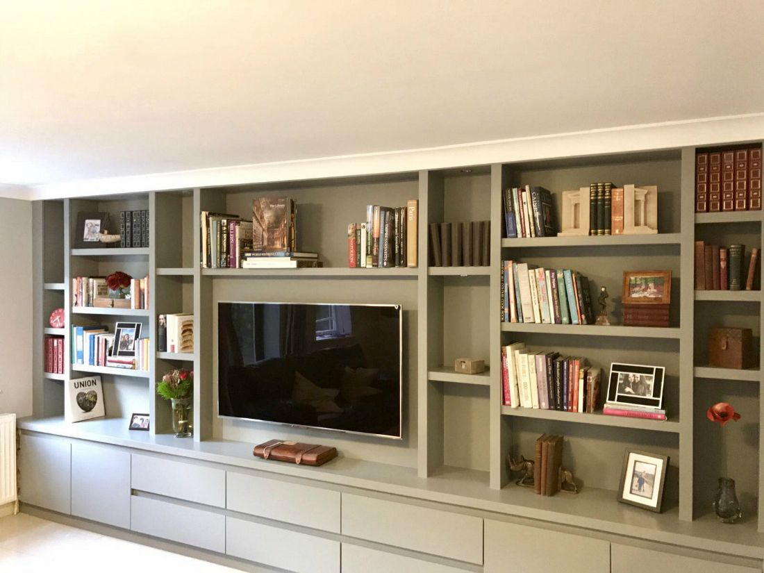 Shelvingcupboard and drawer media furniture the bookcase co
