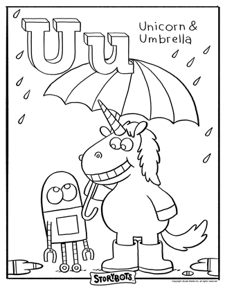 UH-OH, some U words need coloring! A crayon would be very