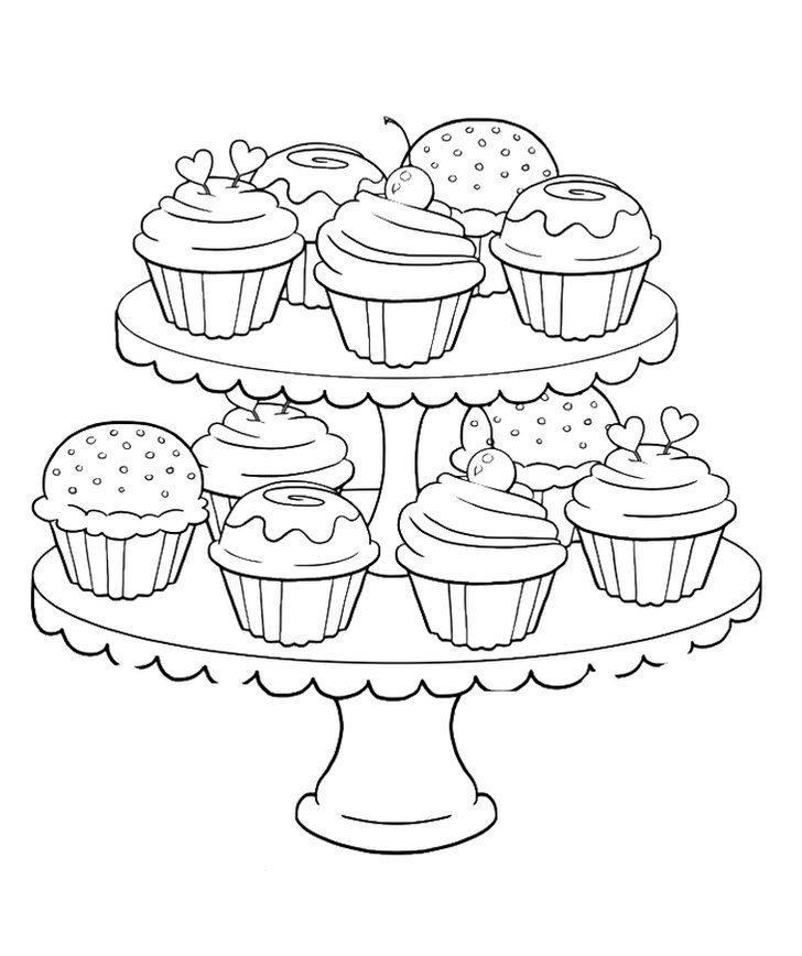 Get The Coloring Page Cupcakes Cupcake Coloring Pages Coloring