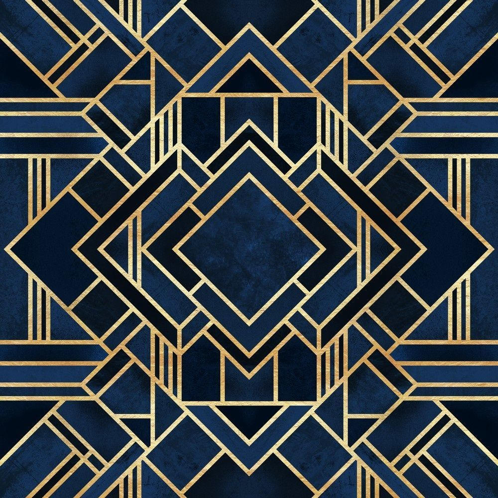 Art Deco Blue in 2020 Art deco pattern, Art deco, Art