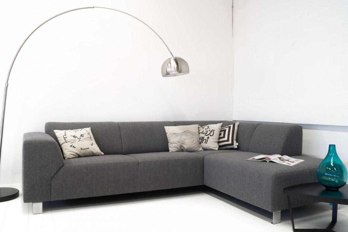Fontaine hoekbank longchair links+2,5 zits grijs   Home  u0026 Design   Pinterest   Link and Silver