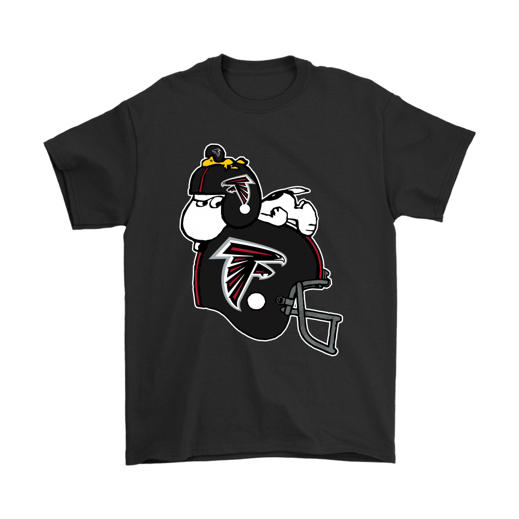 Snoopy And Woodstock Resting On Atlanta Falcons Helmet Shirts Snoopy Facts Atlanta Falcons Helmet Falcons Helmet Atlanta Falcons