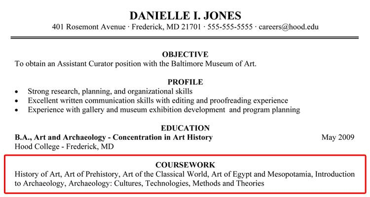 Work Related Courses Education Resume Resume Resume Profile