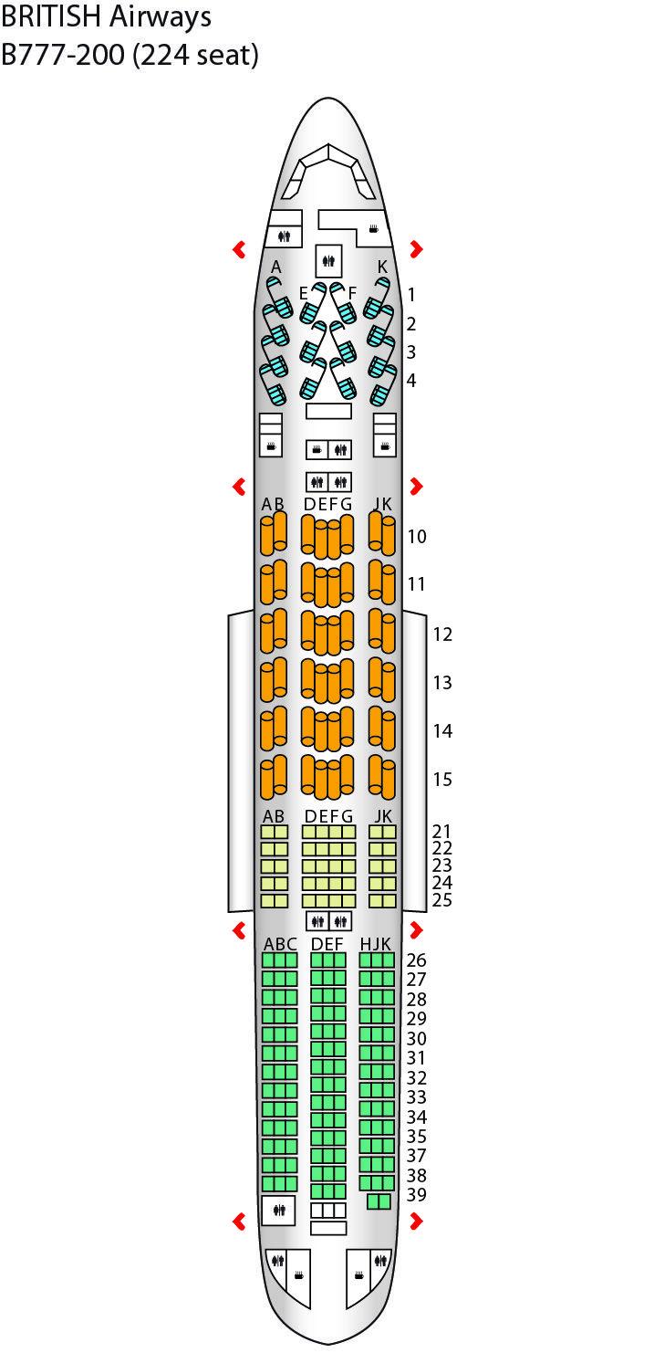 Seating Chart For Boeing 777 British Airways 1000 Id Er