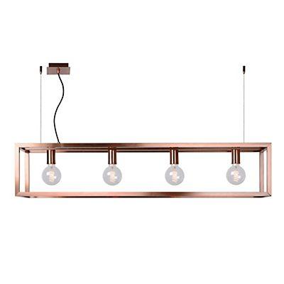 Oris Suspension décorative 4 lumi¨res en acier coloris cuivre L120cm