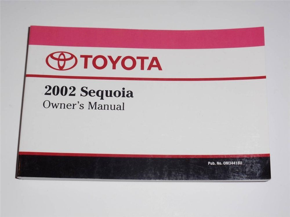 2002 toyota sequoia owners manual book owners manuals pinterest rh pinterest com 2003 Toyota Sequoia 2003 Toyota Sequoia
