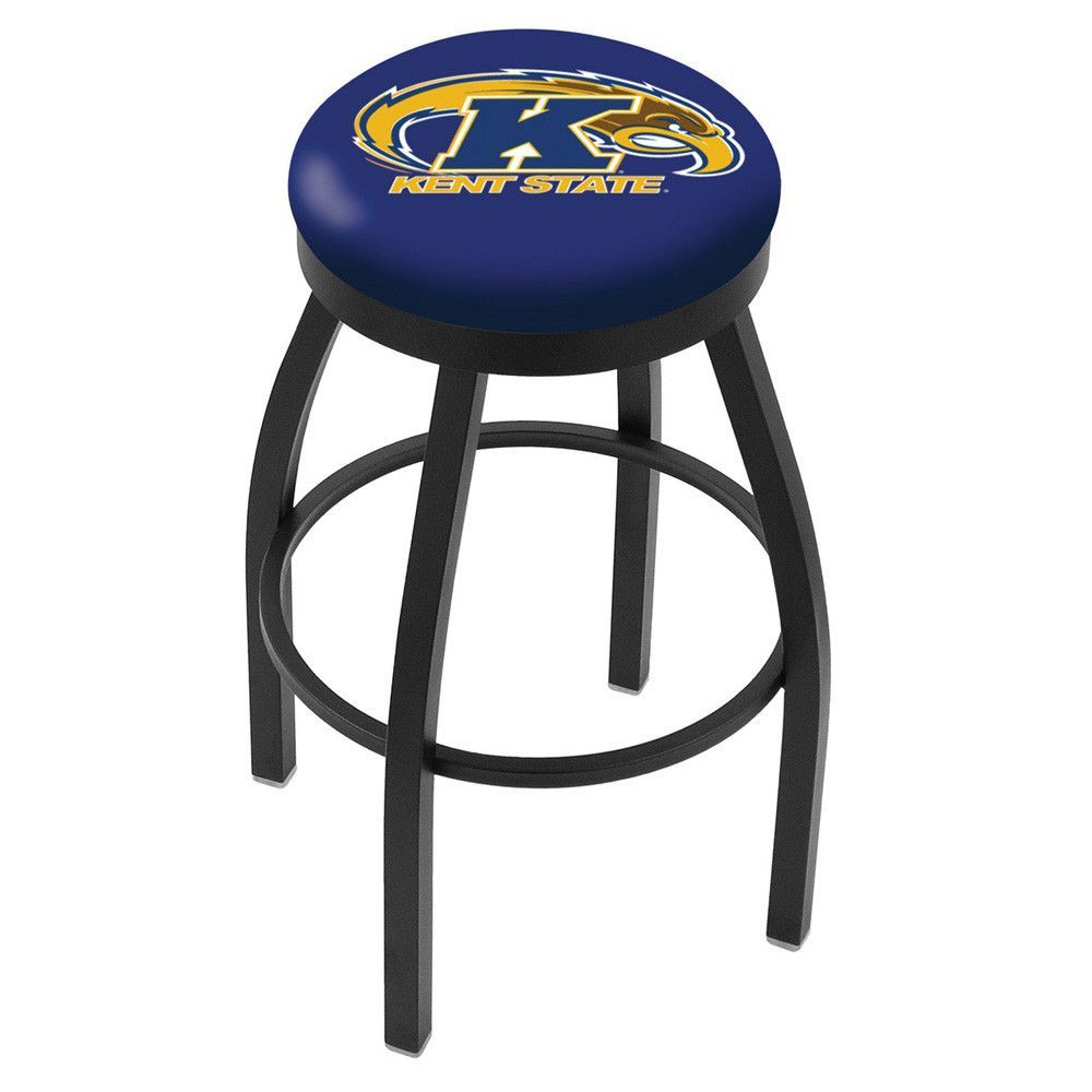 Kent State Golden Flashes Swivel Bar Stool w/ Accent Ring