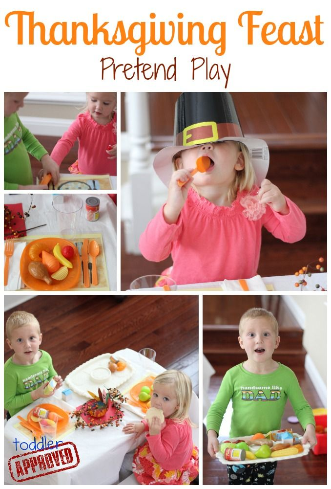 add a turkey baster to dramatic play Toddler Approved!: Thanksgiving Feast Pretend Play