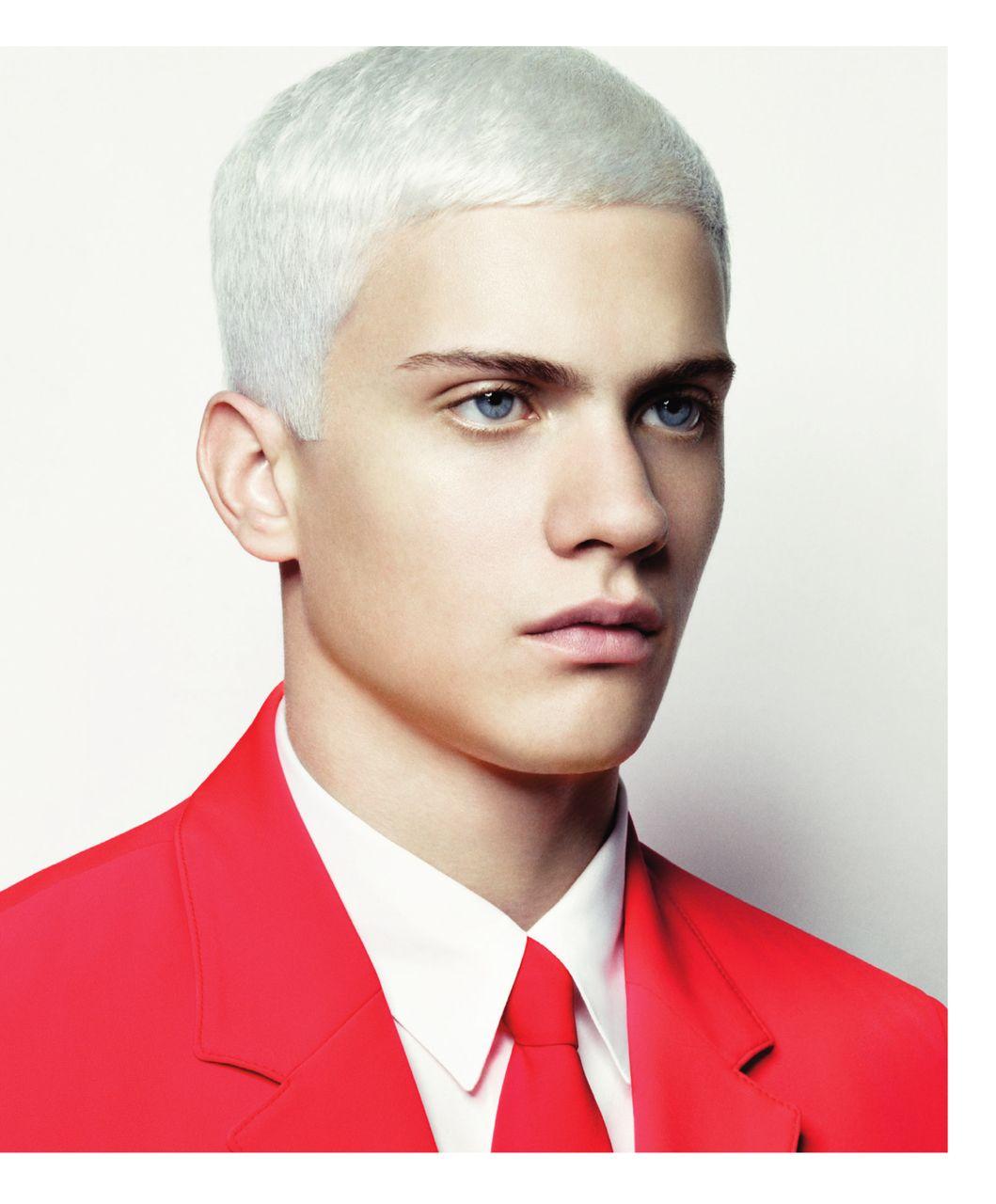 Man #White #Hair  Mens hairstyles, Hair and beard styles