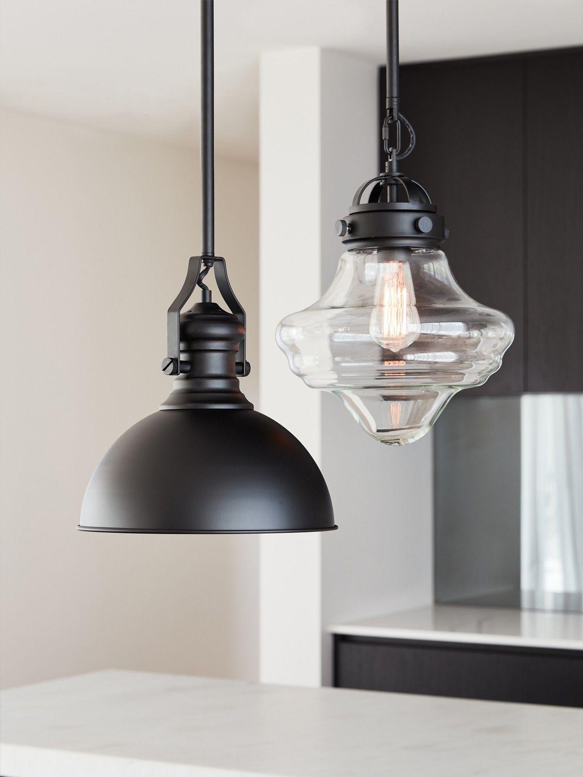 Hamilton 1 Light Pendant in Black Black pendant light