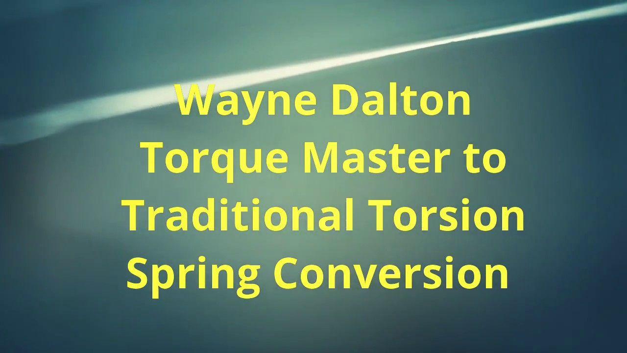 Wayne Dalton Torque Master Garage Door Spring Sytem In Lake Forest