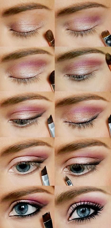 Pink Gold Eye Makeup Tutorial Howto Tutorial Eyes Eyeshadow