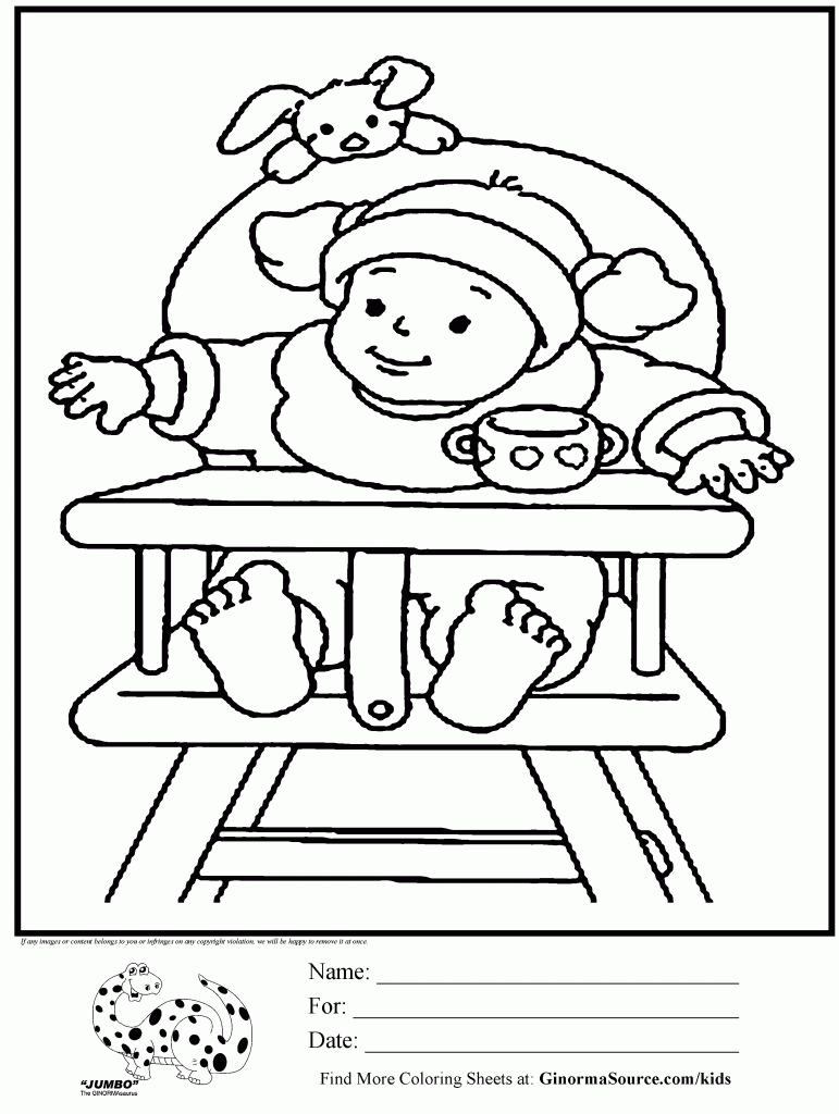 Baby High Chair Coloring Pages For Girls Baby High Chair Coloring Pages For Girls Coloring Pages