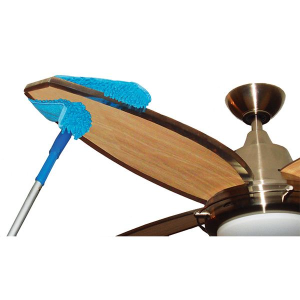 Keeping ceiling fans clean is easier than ever with our connect keeping ceiling fans clean is easier than ever with our connect clean microfiber ceiling fan duster it features a reversible sleeve with loops on one aloadofball