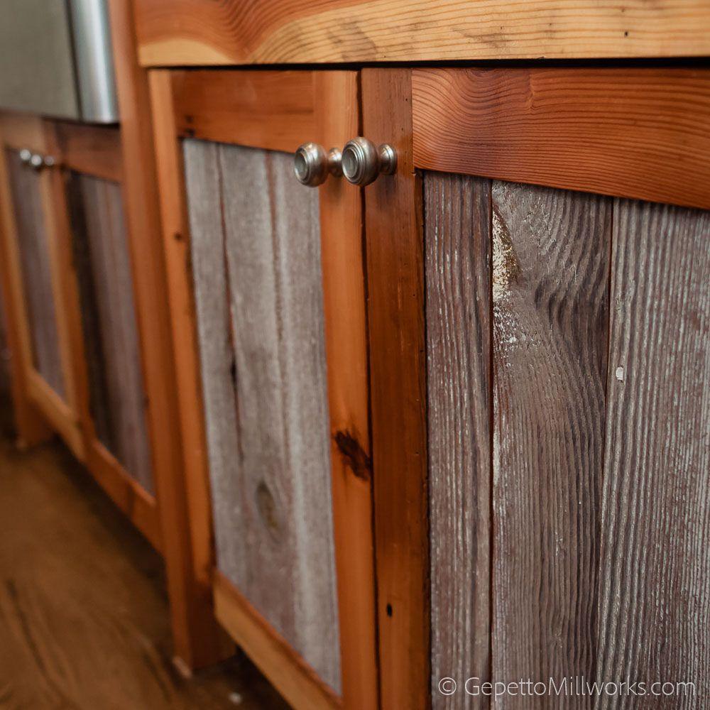 Reclaimed Barnwood Kitchen Cabinet Facing Reclaimed Barn Wood Reclaimed Wood Accent Wall Reclaimed Wood Wall