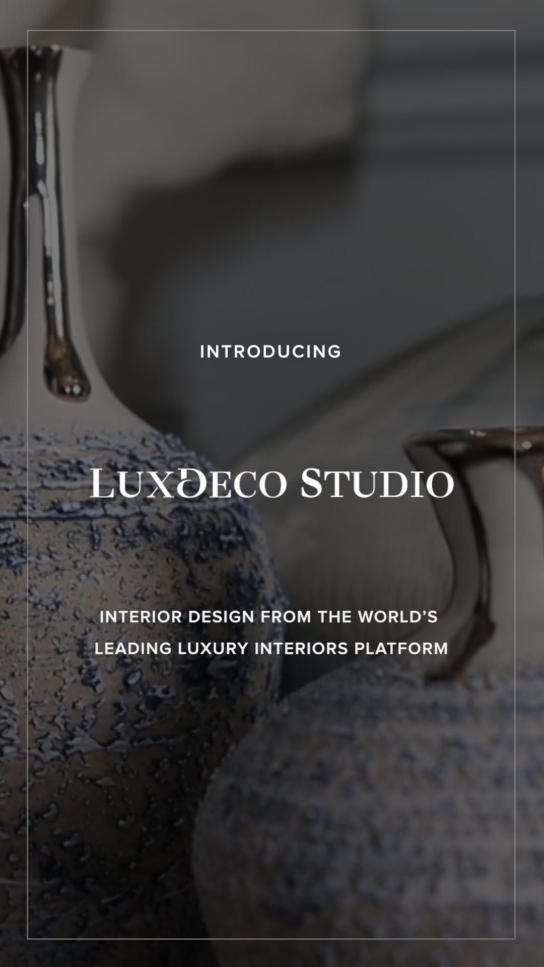 Introducing LuxDeco Studio—Luxury interior design from the world's leading luxury interiors platform.  Based in London and working internationally, LuxDeco Studio are an authority on both luxury and interiors. From full-service residential and hospitality interior design, project management, showhome staging, product sourcing, bespoke furniture design and more, LuxDeco Studio provide services for clients in   Contact LuxDeco Studio on studio@luxdeco.com.