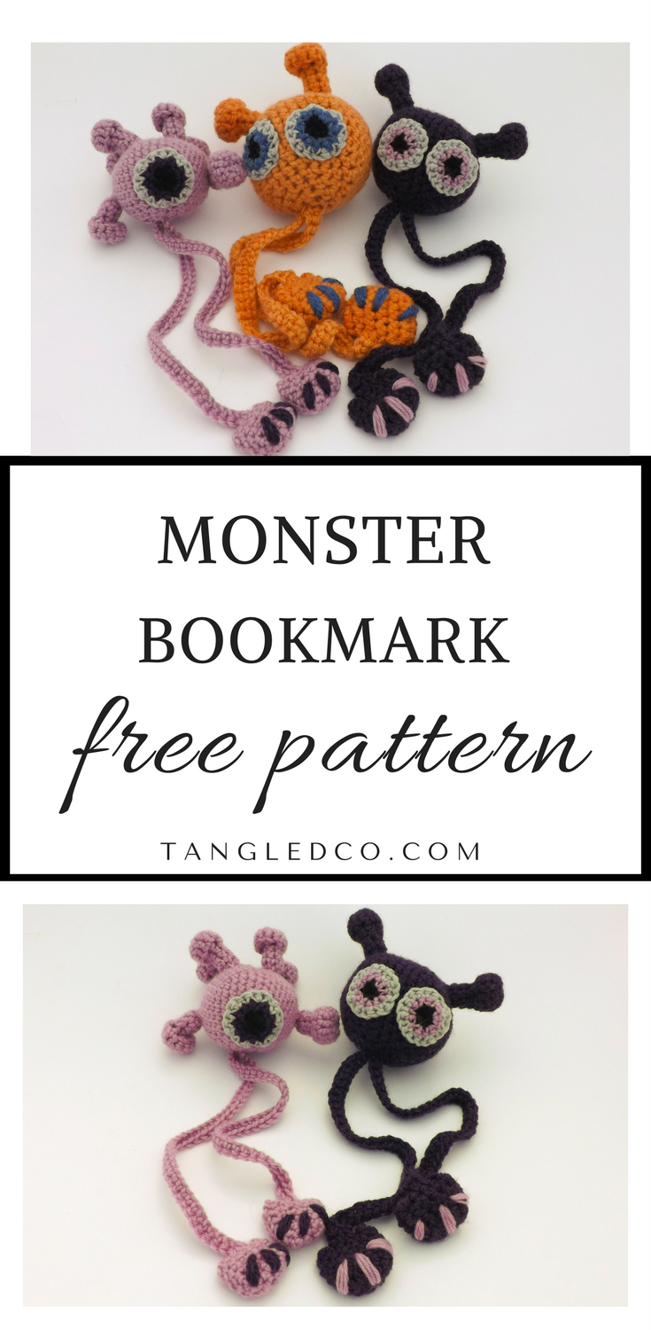 Monster Bookmark | Señaladores, Haken y Ganchillo