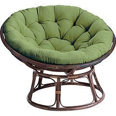 Gentil Large Cane Nest Chair Cushion | ... Chair Owners Com Oval Papasan Rounded  Bowl Shaped Chair Most Striking
