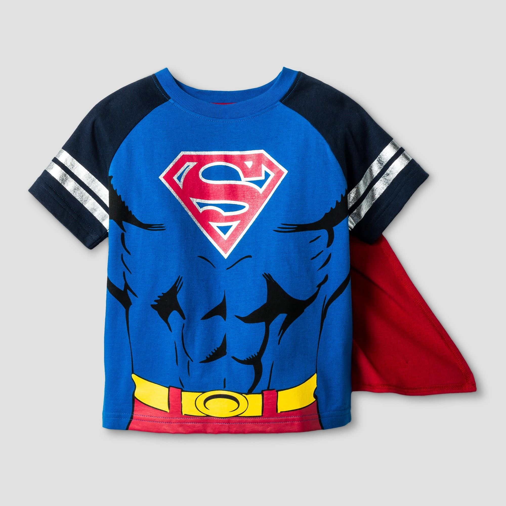 68d1128ad Toddler Boys' Superman Short Sleeve Cape T-Shirt - Blue/Red 2T ...