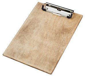 Klemmbrett  Holz,  DIN A4, Bügelklemme, Farbe: natur-rustikal